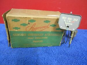 Vintage Chevy Mechanical Water Temperature Gauge Accessory Nos Gm 618