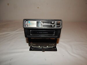 Vintage Car Auto 8 Track Player Dash Floor Mount Sanyo Model Ft 883m Untested