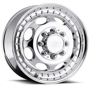 19 5x6 75 Vision 181 Hauler Dually 8x165 1 Et102 Chrome Rims set Of 4