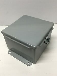 Hoffman A606ch Electrical Enclosure Box Hinged Cover 6 x 6 x 4 holes