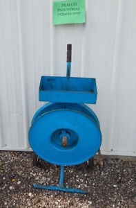 Industrial Banding Strapping Dispenser Cart With 6 Wheels And Tensioner