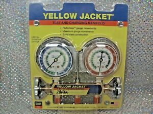 Yellow Jacket Ritchie Engineering Gauge Set 2 Valve Manifold R12 R22 R502