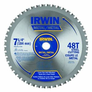 Irwin Tools Metal cutting Circular Saw Blade 7 1 4 inch 48t 4935555