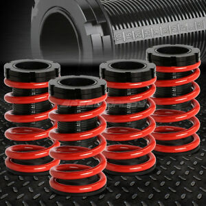 For 01 05 Honda Civic Em Red 1 3 Adjustable Coilover Suspension Lowering Spring