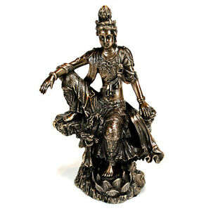Kwan Yin Statue 4 75 Buddhist Goddess High Quality Bronze Resin New Quan Guan