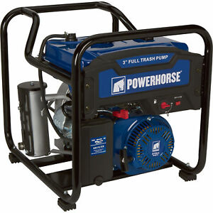 Powerhorse Extended Run Full Trash Water Pump 3in Ports