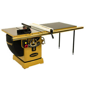 Powermatic Pm23150k 230 volt 50 inch 3 Hp 1 phase Rip Table Saw W Accu fence