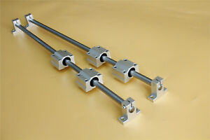 Od12 X 600mm Shaft Optical Axis Ball Slide Rail Support With Bearing