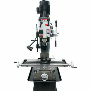 Jet Variable Speed Geared Head Square Column Mill drill 1 1 2 Hp 115 230v