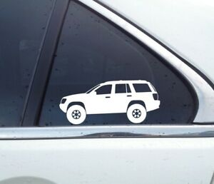 2x Lifted Offroad Truck Stickers For Jeep Grand Cherokee Wj 4x4