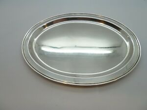Fisher Sterling Silver 2202 Oval 8 1 2 Tray 130 5g