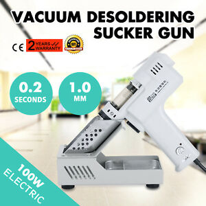 Electric Vacuum Desoldering Pump Sucker Gun Iron Metal 110v 60hz Continuous