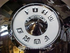 4 Nos 1955 1956 Ford Victoria T bird Thunderbird Dog Dish Poverty Hub Caps Ivory