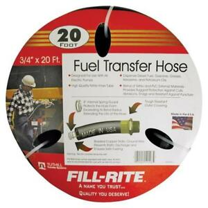 New Tuthill Fill Rite Frh07520 Fuel Transfer Pump Tank Hose 20 X 3 4 1054766