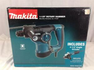 New Makita 1 1 8 Rotary Hammer Plus 4 1 2 Angle Grinder Hr2811fx