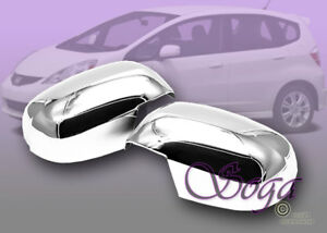 For 2009 2010 2011 2012 Honda Fit Chrome Side Mirror Covers Cover Pair Us Seller