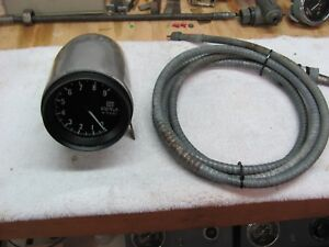 Stewart Warner 9k Sidewinder Tachometer With Aluminum Mount And 9ft Boat Cable