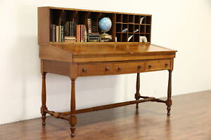 Railroad Station 1860 S Antique Cherry Stand Up Or Stool Height Desk 23352