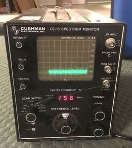 Cushman Ce 15 Spectrum Monitor Untested
