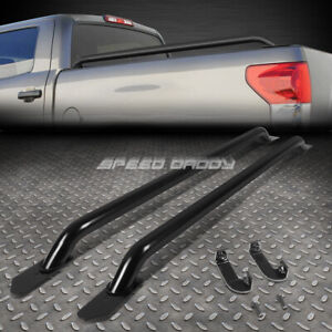 For 14 17 Silverado Sierra 1500 3500 66 Bed 58 Black Mild Steel Truck Rail Bars