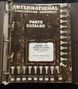 International Harvester Pay Line 175 Series B Loader Tractor Parts Manual 1973