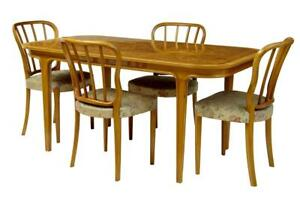 1970 S Swedish Bodafors Beech And Walnut Dining Room Suite