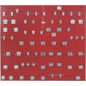 Triton Locboard Kit Pair Of 24in X 42 1 2in Pegboards Red Model Lb2 rkit