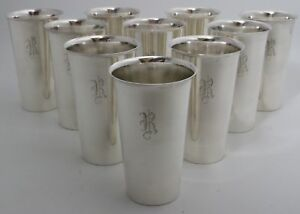 Sterling Silver Mint Julep Cups Tumblers By A G Schultz Set Of 10 R Mono