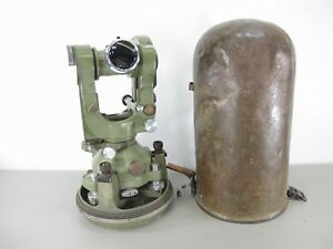 Wild Heerbrugg T2 Theodolite Surveying Transit W Bullet Case