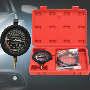 Engine Vacuum Fuel Pump Pressure Tester Kit Gauge Leak Diagnostic Tool W Case