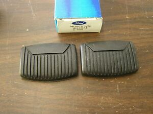 Nos Oem Ford Brake Clutch Pedal Pads Truck Fairlane Thunderbird Galaxie Bronco
