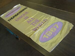 Oem Ford 1967 Thunderbird Dealership Showroom Display Flag Banner Original