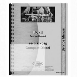 Service Manual Fo s 1110 1210 Ford 1110 1210