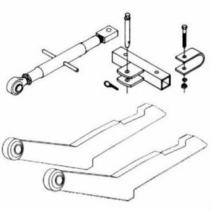 2 point Hitch Conversion Kit 26 Spacing International 350 560 450 460 300