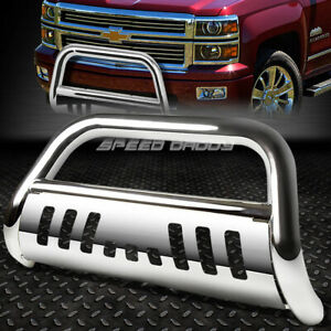 For 07 13 Chevy Silverado Sierra 1500 Chrome Bull Bar Push Bumper Grille Guard