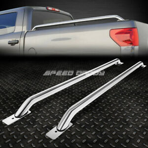 For 07 13 Silverado Sierra 1500 3500 78 Bed 65 Stainless Steel Truck Rail Bars