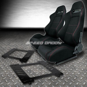Type r Red Stitches Sports Racing Seats bracket For 67 69 Chevy Camaro firebird