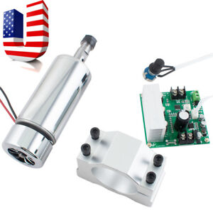 Cnc Spindle Motor 400w Er11 mach3 Pwm Speed Controller mount Engraving Kit New