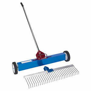 Amk Mfg Rolling Magnetic Sweeper Rake Attachment 30