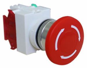 Emergency Stop Switch Push Button Mushroom Shut Off Switches With Twist to reset
