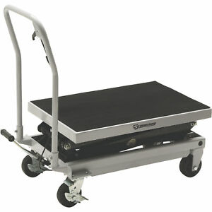 Strongway 2 speed Hydraulic Rapid Lift Xt Table Cart 1000 lb Capacity