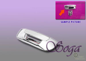 For 2002 2008 Dodge Ram 1500 2500 3500 Chrome Trunk Tailgate Handle Cover Trim