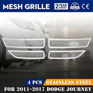 Mesh Grille Fits For 2011 2018 Dodge Journey Front Grille Insert Grille Overlay