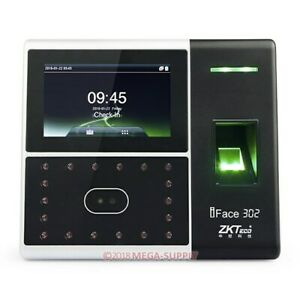 Facial Fingerprint Multi biometric Time Attendance Clock access Control Terminal