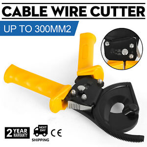 Ratchet 600 Mcm Wire Cable Cutter Electrical Tool Copper Cutting Easily Pro