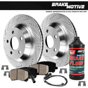 Rear Drill Slot Brake Rotors And Ceramic Pads For Mercedes Benz E320 E350 E500