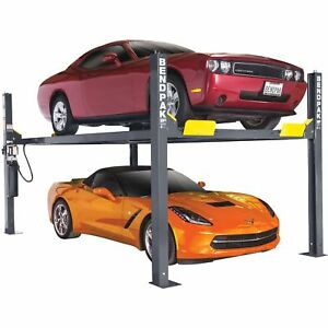 Bendpak 4 Post Car Lift 9000 Lb Capacity Gray Model Hd 9