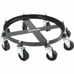 Strongway 8 caster Drum Dolly 55 gallon 2000 lb Capacity