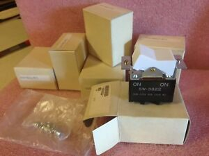 lot Of 6 Sw3822 u E79 30a Cherry Switch Snap Action Dpdt 10a 125v Ma 6d