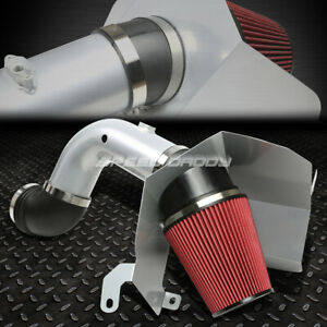 For 03 07 Ram 5 9 Diesel Silver Cold Air Intake Aluminum Pipe heat Shield System